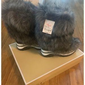Womens Michael Kors Faux Fur Boots